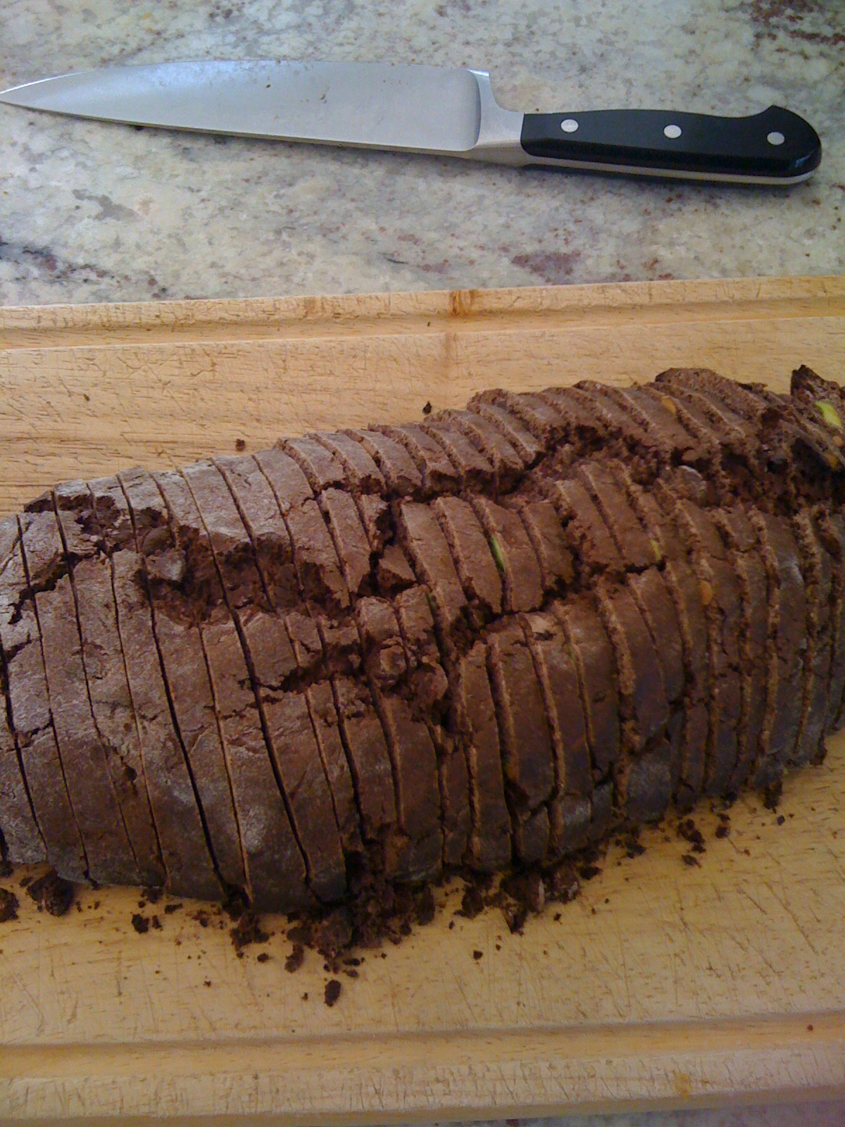 Double Chocolate & Pistachio Biscotti | donisbaked